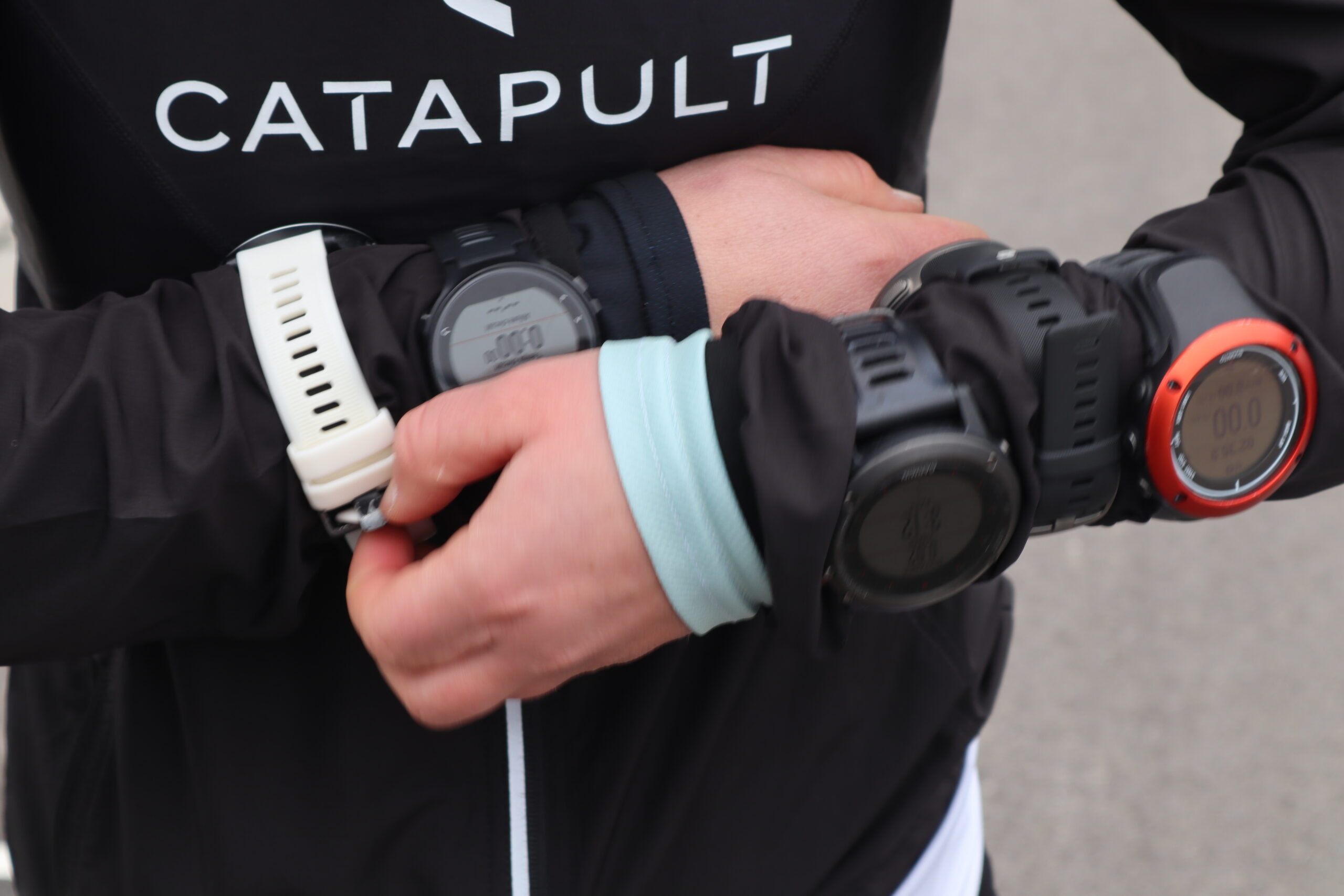 Runner who wears multiple sport gps watches
