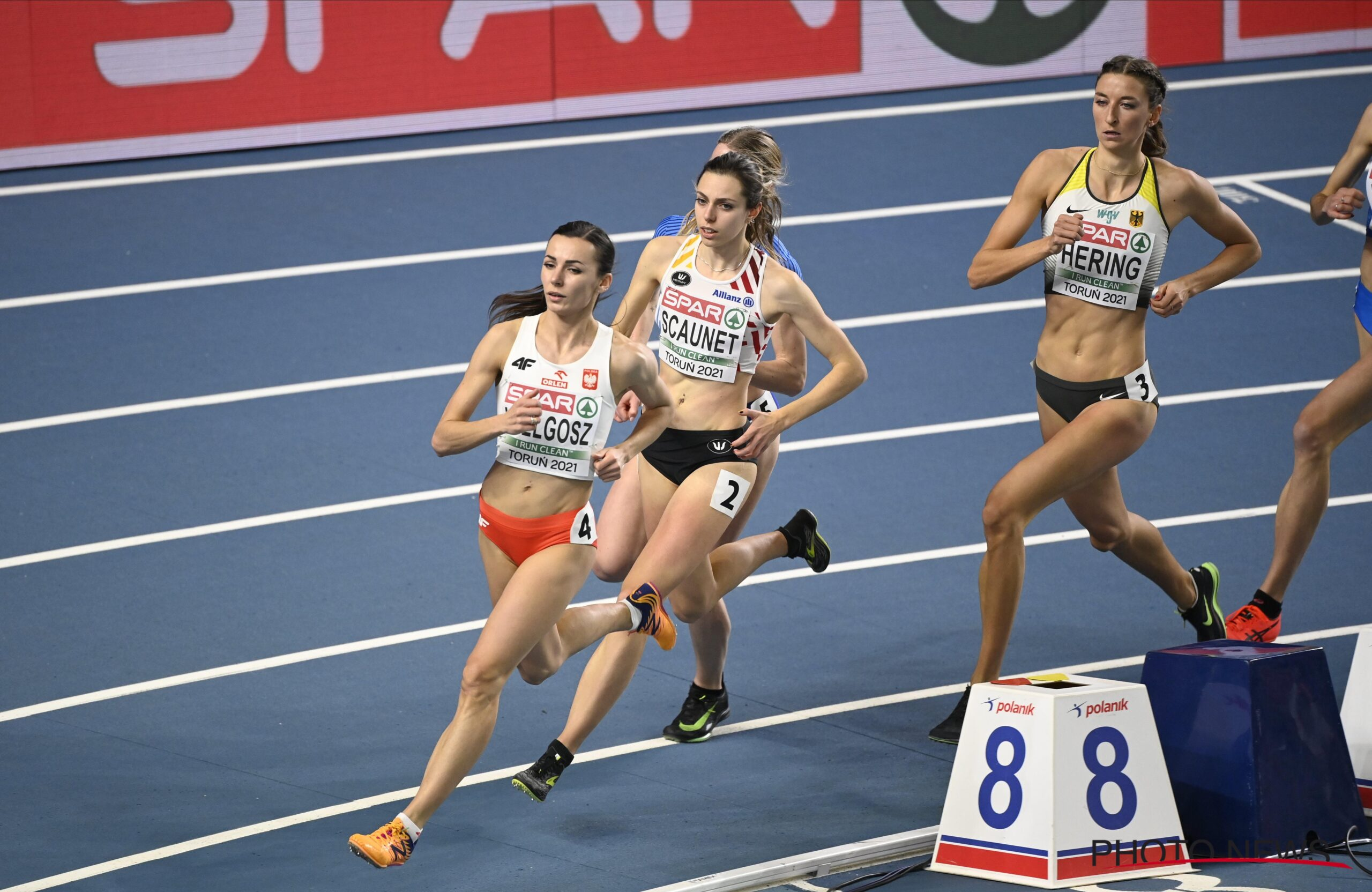 INSCYD user and short distance runner Vanessa Scaunet during The European Championships Indoor on Torun 2021 in Torun